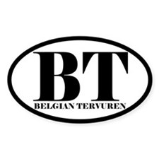 BT Abbreviation Belgian Tervuren Decal