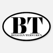 BT Abbreviation Belgian Tervuren Decal