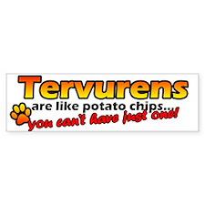 Potato Chips Tervuren Bumper Car Car Sticker