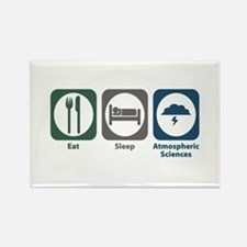Eat Sleep Atmospheric Sciences Rectangle Magnet