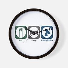 Eat Sleep Astrophysics Wall Clock