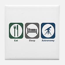 Eat Sleep Astronomy Tile Coaster