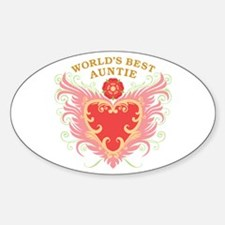 World's Best Auntie Oval Decal