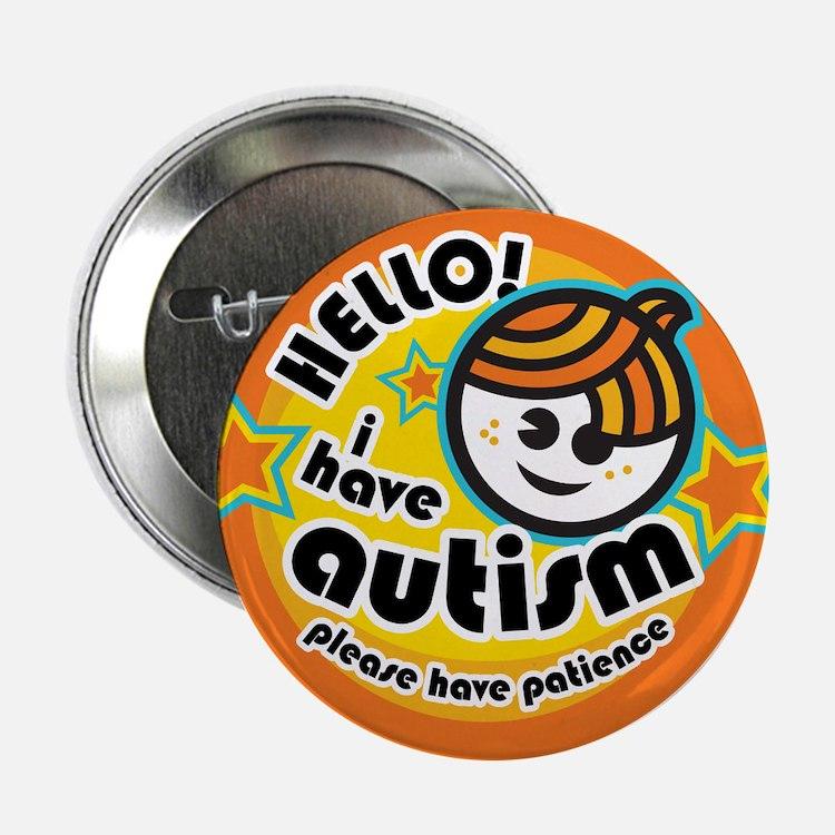 """Hello-Autism (Boy1) 2.25"""" Button"""
