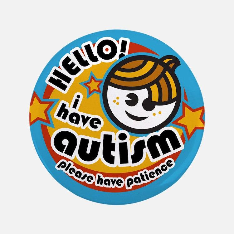 """Hello-Autism (Boy2) 3.5"""" Button"""