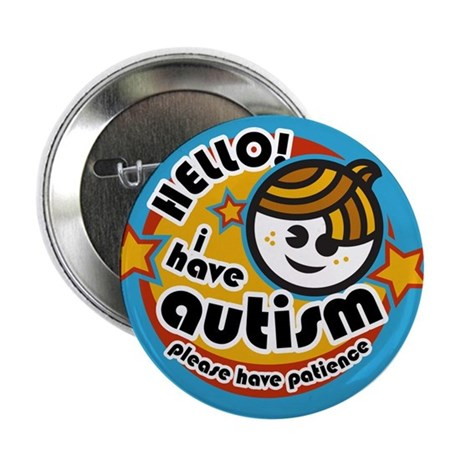 "Hello-Autism (Boy2) 2.25"" Button"