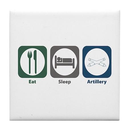 Eat Sleep Artillery Tile Coaster