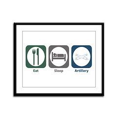 Eat Sleep Artillery Framed Panel Print