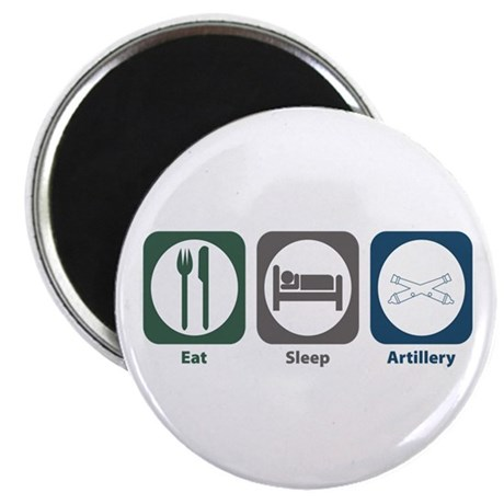 "Eat Sleep Artillery 2.25"" Magnet (100 pack)"