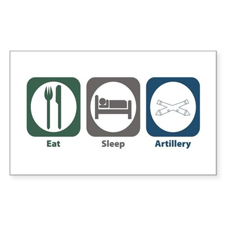 Eat Sleep Artillery Rectangle Sticker