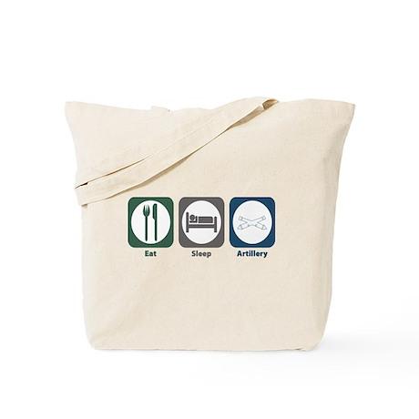 Eat Sleep Artillery Tote Bag