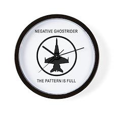Negative Ghostrider Wall Clock