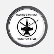 Negative Ghostrider Wall Clock