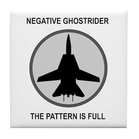 Negative Ghostrider The Patte Tile Coaster
