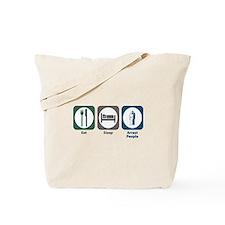 Eat Sleep Arrest People Tote Bag