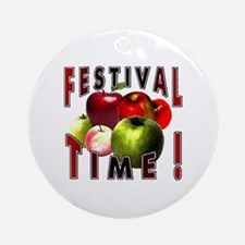 Apple Festival Time ! Ornament (Round)
