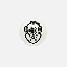Diving Helmet Mini Button