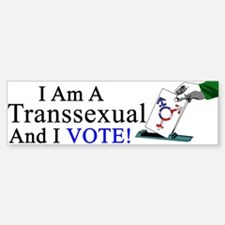 Transsexual Vote Bumper Bumper Bumper Sticker