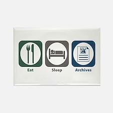 Eat Sleep Archives Rectangle Magnet