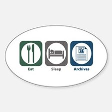 Eat Sleep Archives Oval Decal