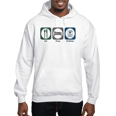 Eat Sleep Archives Hooded Sweatshirt