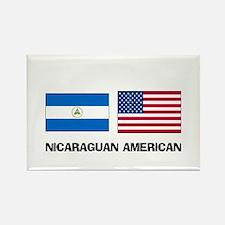 Nicaraguan American Rectangle Magnet
