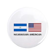 "Nicaraguan American 3.5"" Button"