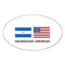Nicaraguan American Oval Decal