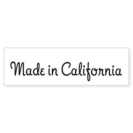 Made in California Bumper Sticker