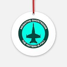 Negative Ghostrider The Patte Ornament (Round)