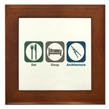 Eat Sleep Architecture Framed Tile
