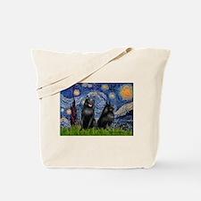 Starry / Schipperke Pair Tote Bag