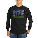 Starry / Schipperke Pair Long Sleeve Dark T-Shirt