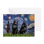 Starry / Schipperke Pair Greeting Cards (Pk of 20)