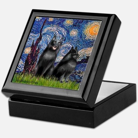 Starry / Schipperke Pair Keepsake Box