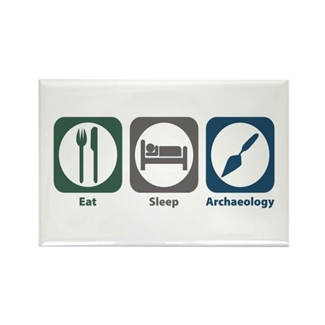 Eat Sleep Archaeology Rectangle Magnet