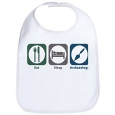 Eat Sleep Archaeology Bib