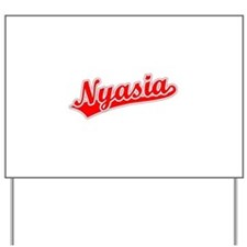 Retro Nyasia (Red) Yard Sign