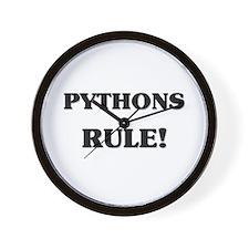 Pythons Rule Wall Clock