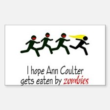 zombies chasing ann coulter Rectangle Decal