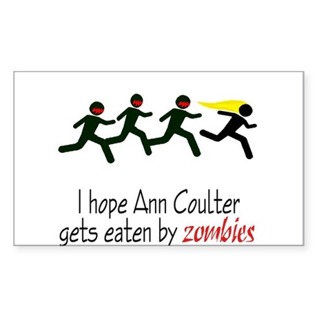 zombies chasing ann coulter Rectangle Sticker