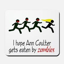 zombies chasing ann coulter Mousepad