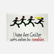 zombies chasing ann coulter Rectangle Magnet