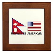 Unique Foreign born american Framed Tile