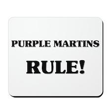 Purple Martins Rule Mousepad