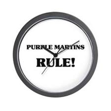 Purple Martins Rule Wall Clock