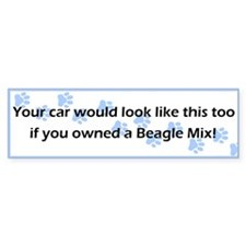 Your Car Beagle Mix Bumper Bumper Sticker