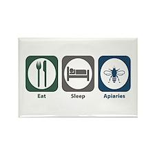 Eat Sleep Apiaries Rectangle Magnet