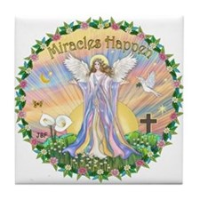 Miracles Happen Tile Coaster