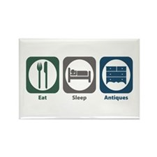 Eat Sleep Antiques Rectangle Magnet